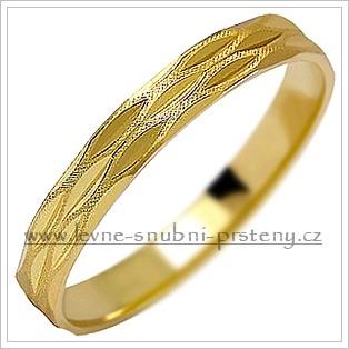 Snubní prsteny LSP 1112 žluté zlato