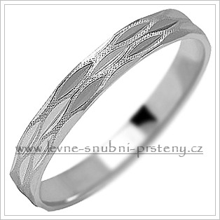 Snubní prsteny LSP 1112b bílé zlato