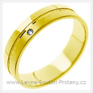 Snubní prsteny LSP 1115 žluté zlato