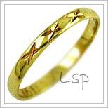 Snubní prsteny LSP 1116 žluté zlato