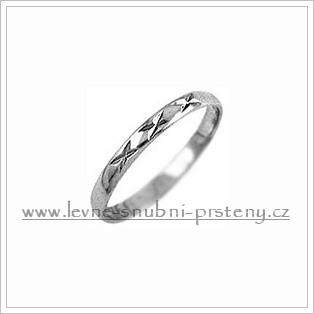 Snubní prsteny LSP 1116b bílé zlato