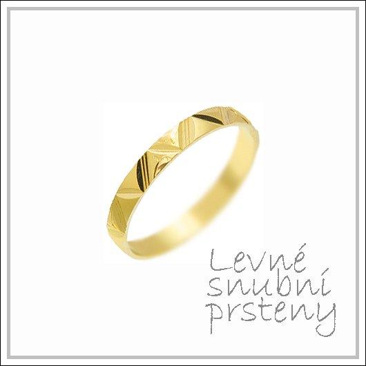 Snubní prsteny LSP 1118 žluté zlato