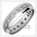 Snubní prsteny LSP 1120b bílé zlato