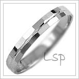 Snubní prsteny LSP 1123b bílé zlato