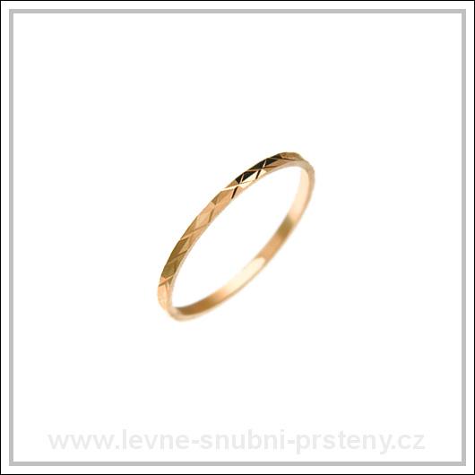 Snubní prsteny LSP 1124 červené zlato