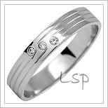 Snubní prsteny LSP 1125b bílé zlato
