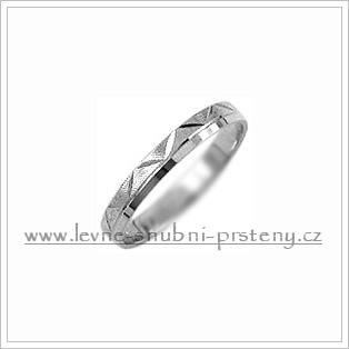 Snubní prsteny LSP 1126b bílé zlato