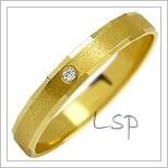 Snubní prsteny LSP 1127 žluté zlato s diamanty