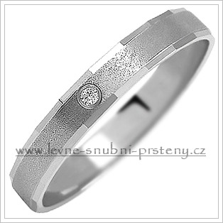 Snubní prsteny LSP 1127b bílé zlato