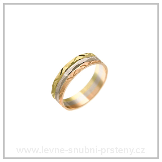 Snubní prsteny LSP 1128 kombinované zlato