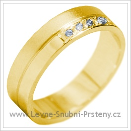 Snubní prsteny LSP 1129 žluté zlato