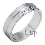 Snubní prsteny LSP 1129b bílé zlato