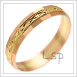 Snubní prsteny LSP 1133 kombinované zlato
