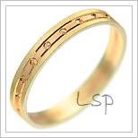 Snubní prsteny LSP 1138 kombinované zlato