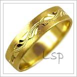 Snubní prsteny LSP 1139 žluté zlato