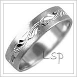 Snubní prsteny LSP 1139b bílé zlato