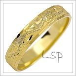 Snubní prsteny LSP 1142 žluté zlato