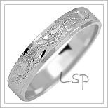 Snubní prsteny LSP 1142b bílé zlato