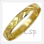 Snubní prsteny LSP 1144 žluté zlato