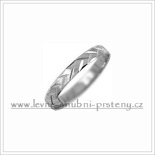 Snubní prsteny LSP 1144b bílé zlato