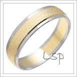 Snubní prsteny LSP 1145 kombinované zlato