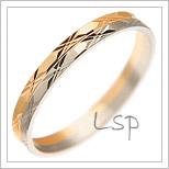 Snubní prsteny LSP 1146 kombinované zlato