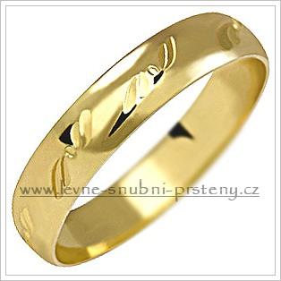 Snubní prsteny LSP 1147 žluté zlato