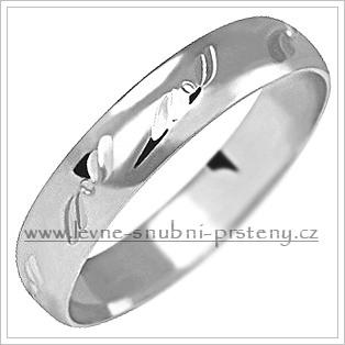 Snubní prsteny LSP 1147b bílé zlato