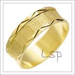 Snubní prsteny LSP 1148 žluté zlato