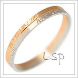 Snubní prsteny LSP 1149 kombinované zlato