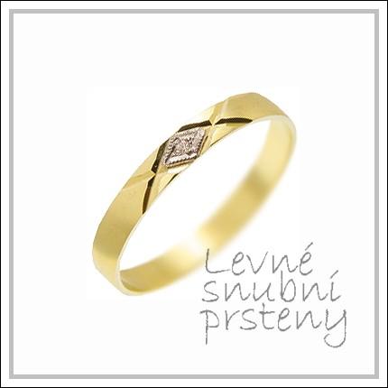Snubní prsteny LSP 1150 žluté zlato