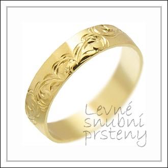 Snubní prsteny LSP 1151 žluté zlato