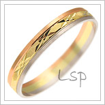 Snubní prsteny LSP 1152 kombinované zlato