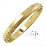 Snubní prsteny LSP 1153 žluté zlato