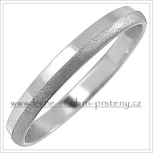 Snubní prsteny LSP 1153b bílé zlato