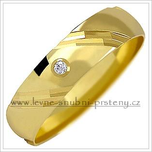 Snubní prsteny LSP 1155 žluté zlato s diamanty