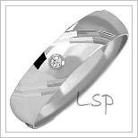 Snubní prsteny LSP 1155b bílé zlato
