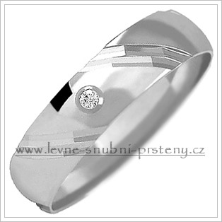 Snubní prsteny LSP 1155bz bílé zlato