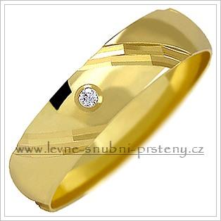 Snubní prsteny LSP 1155z žluté zlato se zirkony