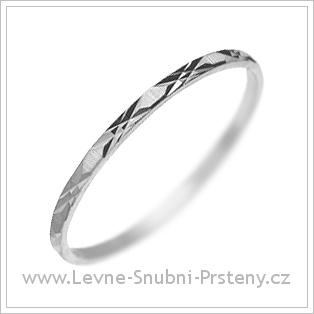 Snubní prsteny LSP 1156 bílé zlato