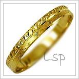 Snubní prsteny LSP 1157 žluté zlato