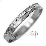 Snubní prsteny LSP 1157b bílé zlato