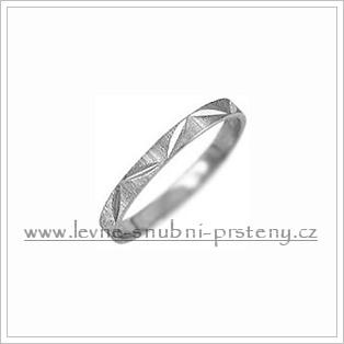 Snubní prsteny LSP 1158b bílé zlato