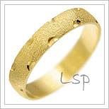 Snubní prsteny LSP 1159 žluté zlato