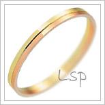 Snubní prsteny LSP 1160 kombinované zlato