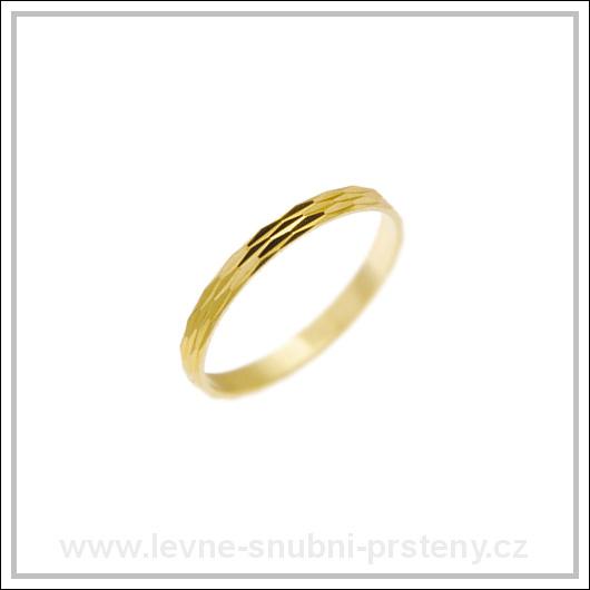 Snubní prsteny LSP 1161 žluté zlato