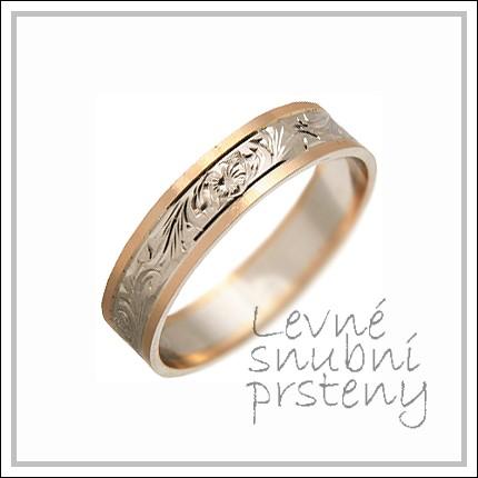 Snubní prsteny LSP 1162 kombinované zlato