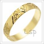 Snubní prsteny LSP 1163 žluté zlato