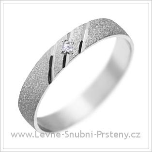 Snubní prsteny LSP 1167 bílé zlato