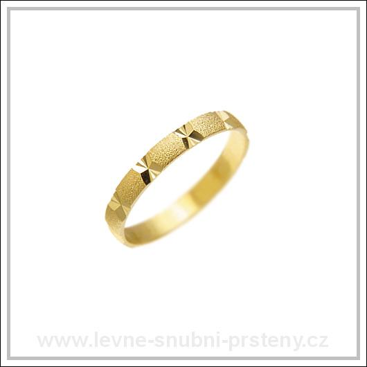 Snubní prsteny LSP 1168 žluté zlato